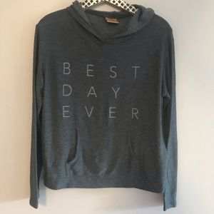 Good HYouMan Best Day Ever Gray Pullover Hoodie